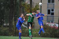 VOETBAL: HEERENVEEN: 07-11-2015, Heerenveense Boys - Zwaagwesteinde, uitslag 2-3, Rene Nauta (#10), Oane Hornstra (#9), Jelle van der Wal (#3), uitslag 2-3, ©foto Martin de Jong