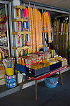 Garlands and incense sold at a shop selling religious items
