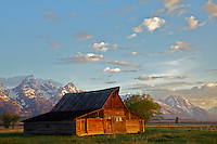 The Moulton Barnsand the Grand Tetons in  Grand Teton National Park