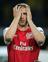 FUSSBALL   CHAMPIONS LEAGUE   SAISON 2011/2012  Borussia Dortmund - Arsenal London        13.09.2001 Per MERTESACKER (Arsenal London)