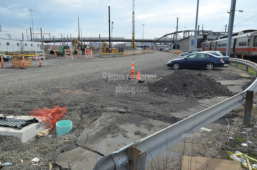 New Haven Rail Yard, Independent Wheel True Facility. CT-DOT Project # 0300-0139, New Haven CT..Photograph of Construction Progress Photo Shoot 10 on 15 April 2012. One of 52 Images Captured this Submission.