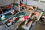 HAITI, PORT AU PRINCE  October, 2010..Haitian cholera victims reacts as they suffers from cholera disease in Port Au Prince October, 2010. VIEWpress /Kena Betancur..An cholera outbreak that began in late October 2010 in the rural Artibonite Department of Haiti, killing 4672 people by March 2011 around the Country and hospitalising thousands more The outbreak followed a powerful earthquake which devastated the country on 12 January 2010.Local Media Report.