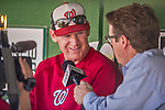 1 June 2014: Washington Nationals Manager Matt Williams is interviewed by the media prior to a game against the Texas Rangers at Nationals Park in Washington, DC. The Nationals defeated the Rangers 10-2 to sweep their 3-game inter-league series. Mandatory Credit: Ed Wolfstein Photo *** RAW (NEF) Image File Available ***