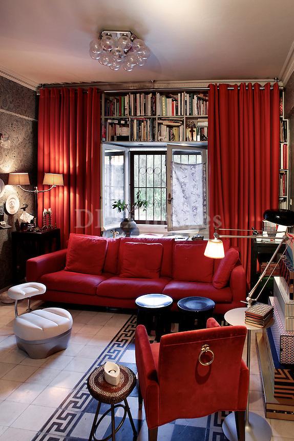 modern art deco living room