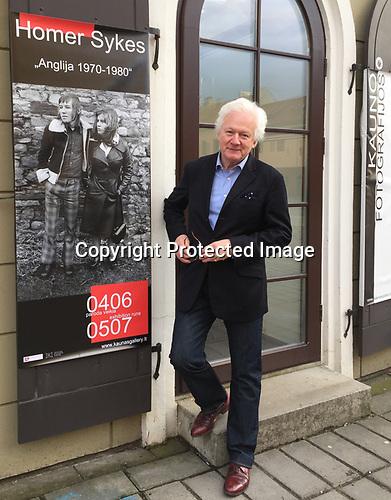 """Kaunas Photography Gallery, Kaunas, Lithuania. April 2017.  Opening night of """"England 1970-1980"""". Photo Gintaris Cesonis"""