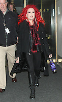 APR 16 Cyndi Lauper at NBC's Today Show NY