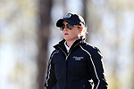 BROWNS SUMMIT, NC - APRIL 01: Colorado State assistant coach Jessie LaBarbera. The first round of the Bryan National Collegiate Women's Golf Tournament was held on April 1, 2017, at the Bryan Park Champions Course in Browns Summit, NC.