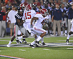 Alabama wide receiver Marquis Maze (4) runs at Vaught-Hemingway Stadium in Oxford, Miss. on Saturday, October 14, 2011. Alabama won 52-7.