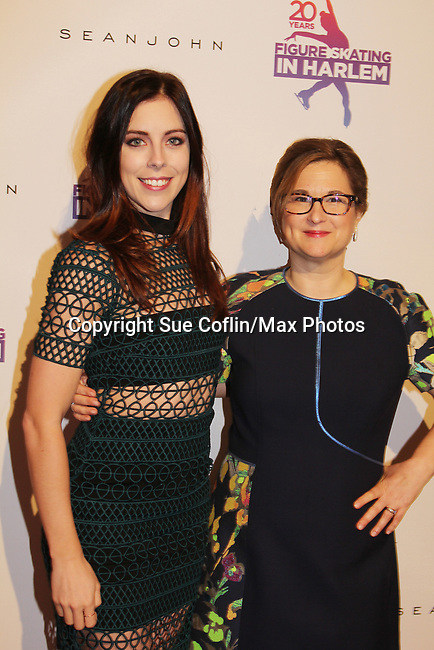 Ashley Wagner poses with Sharon Cohen - Figure Skating in Harlem celebrates 20 years - Champions in Life benefit Gala on May 2, 2017 in New York Ciry, New York.   (Photo by Sue Coflin/Max Photos)