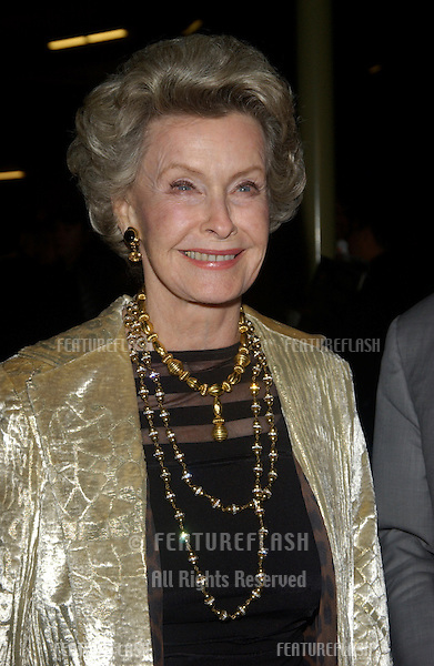 Actress DINA MERRILL at the world premiere of her new movie Shade, in Hollywood..April 6, 2004