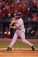 Johnny Damon. Baseball: 2004 World Series. St. Louis Cardinals vs Boston Red Sox. St. Louis, MO 10/27/2004 MANDATORY CREDIT: Brad Mangin/MLB Photos