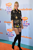 Singer Gwen Stefani at the Nickelodeon 2017 Kids' Choice Awards at the USC's Galen Centre, Los Angeles, USA 11 March  2017<br /> Picture: Paul Smith/Featureflash/SilverHub 0208 004 5359 sales@silverhubmedia.com