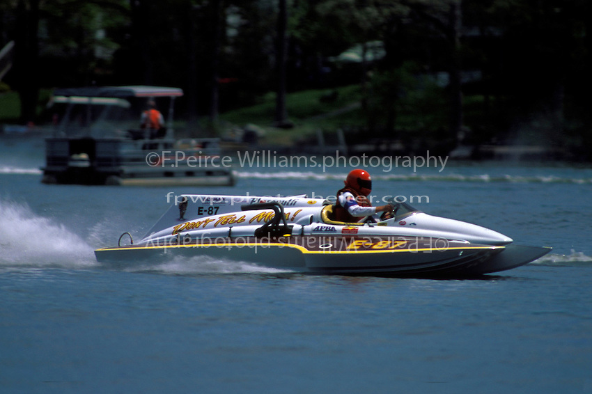 "Steve Drucker, E-87 ""Don't Tell Mom!"", (1971 Ron Jones 280 class cabover hydroplane) 1997"