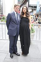 NEW YORK, NY-July 28:  Robert Simonds, Mila Kunis at STX Entertainment '& Bad Moms' cast  Ring The NASDAQ Closing Bell at Time Square New York. NY July 28, 2016. Credit:RW/MediaPunch