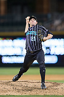 Charlotte Knights relief pitcher Brad Goldberg (21) in action against the Norfolk Tides at BB&T BallPark on May 2, 2017 in Charlotte, North Carolina.  The Knights defeated the Tides 8-3.  (Brian Westerholt/Four Seam Images)
