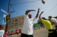 PITTSBURGH, PA-MAY 6: Action during the 2012 Pittsburgh Marathon.(Jeff Swensen/For the Pittsburgh Marathon)