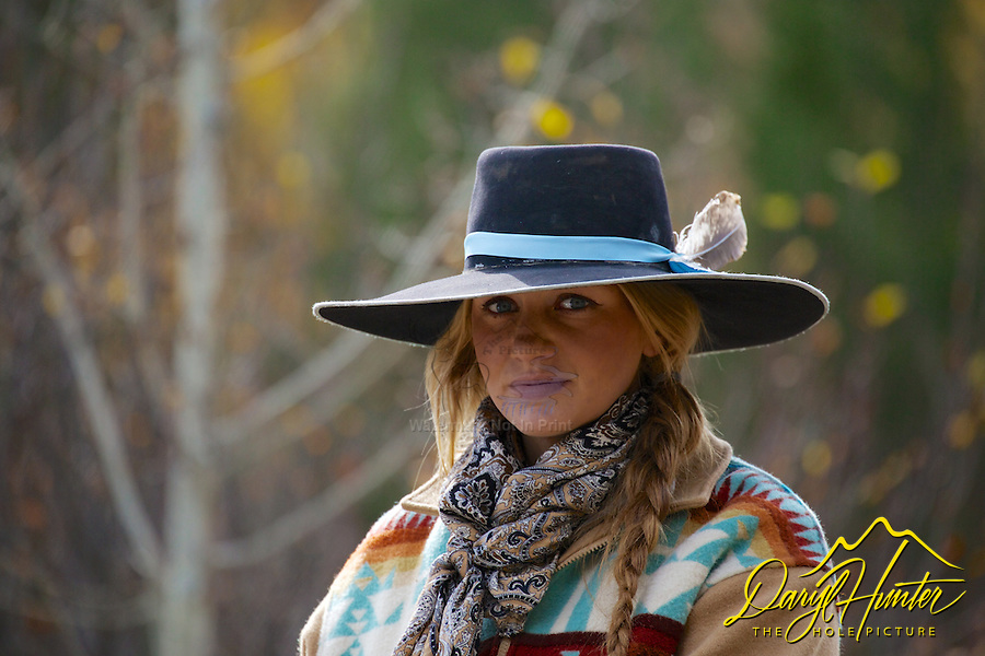 Cowgirl Wrangler, Cattle Drive, Alpine Wyoming. My photos are not to be used for anti public land ranching interests. The cowboys of the west are under assault because many don't like to see their cows on public land. I have written a couple of articles articulating the problem.