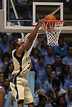 08 November 2008: Pembroke's Marcus Heath dunks the ball. The University of North Carolina Tarheels defeated the University of North Carolina at Pembroke Braves 102-62 at the Dean E. Smith Center in Chapel Hill, NC in an NCAA exhibition basketball game.