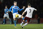 St Johnstone v Rangers&hellip;28.12.16     McDiarmid Park    SPFL<br />David Wotherspoon gets a sore one from Clint Hill<br />Picture by Graeme Hart.<br />Copyright Perthshire Picture Agency<br />Tel: 01738 623350  Mobile: 07990 594431