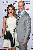 HOLLYWOOD, LOS ANGELES, CA, USA - NOVEMBER 12: Sasha Alexander, Edoardo Ponti arrives at the AFI FEST 2014 - Special Tribute To Sophia Loren held at the Dolby Theatre on November 12, 2014 in Hollywood, Los Angeles, California, United States. (Photo by Xavier Collin/Celebrity Monitor)