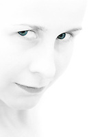 Young female with blue-green eyes. Title: I got my eyes on you