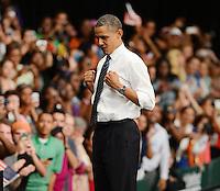 Barack Obama,campaña en la  Universidad de Miam