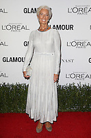 LOS ANGELES, CA - NOVEMBER 14: Christine Lagarde at  Glamour's Women Of The Year 2016 at NeueHouse Hollywood on November 14, 2016 in Los Angeles, California. Credit: Faye Sadou/MediaPunch