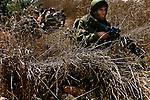 Israel-Lebanon border 2006<br /> <br /> An israeli infantry force makes its way into southern Lebanon during II Lebanon War.