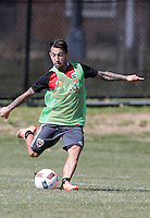 Washington, D.C. - Wednesday, March 9, 2016: D.C United practice session at RFK Stadium Practices field.