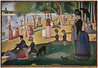 Very Large Rolled Canvas of A Sunday Afternoon on the Island of La Grande Jatte Artist Georges-Pierre Seurat<br />