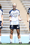 28 August 2011: Notre Dame's Kecia Morway. The Duke University Blue Devils defeated the Fighting Irish of Notre Dame 3-1 at Fetzer Field in Chapel Hill, North Carolina in an NCAA Women's Soccer game.
