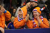 SCHAATSEN: HEERENVEEN: IJsstadion Thialf, 03-12-2011, Oranje publiek, ©foto Martin de Jong