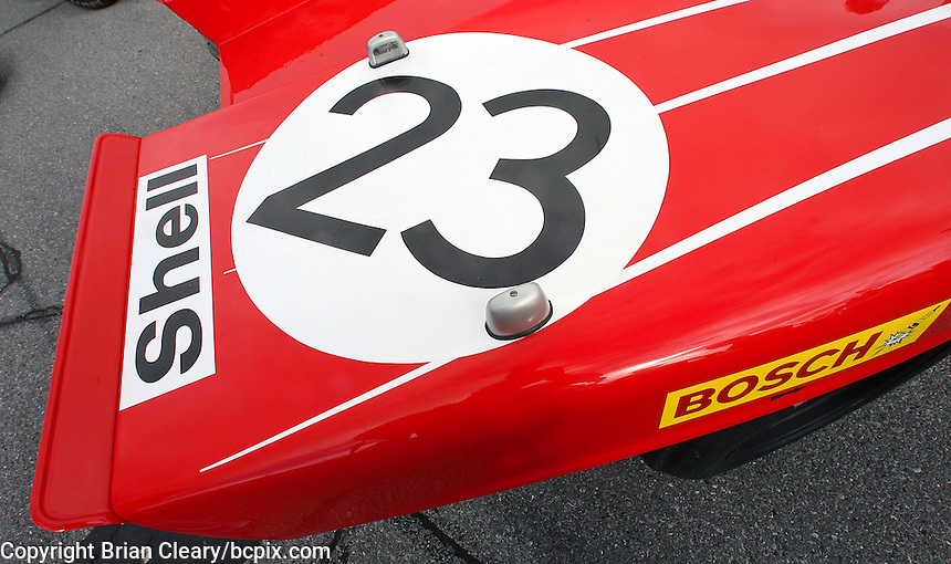 Detail of Porsche on display at the Rennsport Reunion, Daytona INternational Speedway, Daytona Beach, FL, November 2007.  (Photo by Brian Cleary/www.bcpix.com)