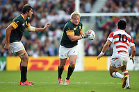 Adriaan Strauss of South Africa in possession. Rugby World Cup Pool B match between South Africa and Japan on September 19, 2015 at the Brighton Community Stadium in Brighton, England. Photo by: Patrick Khachfe / Onside Images