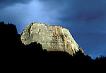 UT: Utah; Zion National Park, Great White Throne  .Photo Copyright: Lee Foster, lee@fostertravel.com, www.fostertravel.com, (510) 549-2202.Image: utzion202
