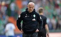 FUSSBALL   1. BUNDESLIGA   SAISON 2012/2013    32. SPIELTAG SV Werder Bremen - TSG 1899 Hoffenheim             04.05.2013 Trainer Thomas Schaaf (SV Werder Bremen)  ist enttaeuscht