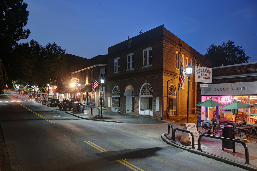 The historical Corner area located adjacent to the University of Virginia in Charlottesville, Va. Photo/Andrew Shurtleff