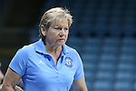 04 November 2015: UNC head coach Sylvia Hatchell. The University of North Carolina Tar Heels hosted the Wingate University Bulldogs at Carmichael Arena in Chapel Hill, North Carolina in a 2015-16 NCAA Women's Basketball exhibition game. UNC won the game 86-84.