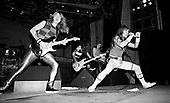 IRON MAIDEN - performing live on the World Slavery Tour at the Sporthall Aleja Politechniki in Lodz Poland - 10 August 1984.  Photo credit: George Bodnar Archive/IconicPix