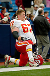 13 November 2005: Kansas City Chiefs tackle Chris Bober takes a pre-game breather prior to facing the Buffalo Bills at Ralph Wilson Stadium in Orchard Park, NY. The Bills defeated the Chiefs 14-3. ..Mandatory Photo Credit: Ed Wolfstein