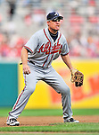 24 September 2011: Atlanta Braves third baseman Chipper Jones in action against the Washington Nationals at Nationals Park in Washington, DC. The Nationals defeated the Braves 4-1 to even up their 3-game series. Mandatory Credit: Ed Wolfstein Photo