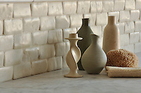 Giovanni Barbieri 2 x 4 in. Timeworn Bricks in Bianco Antico