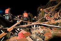 Netivot, Israel, Jan 3 2009.A 'Grad' rocket launched from the Gaza strip has completely destroyed a house in Netivot, more than 20km away, fortunately without causing any casualties.