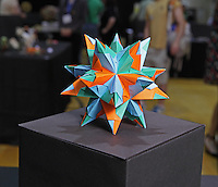 OrigamiUSA 2014 exhibition. A modular origami creation designed and folded by Isa Klein, Brazil.