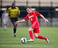 Jack Bennett (11) of St. John's sprints forward with the ballduring the game at North Kehoe Field in Washington DC. Georgetown defeated St. John's, 2-1, in the Big East conference tournament quarterfinals.