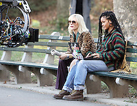 NEW YORK, NY November 07:Cate Blanchett, Rihanna, shooting on location for Ocean 8 in Central Park New York .November 07, 2016. Credit:RW/MediaPunch