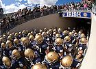 The Football team enters Notre Dame Stadium for the season opener against Purdue, Sept. 4, 2010.