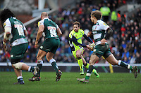 Danny Cipriani of Sale Sharks goes on the attack. Aviva Premiership match, between Leicester Tigers and Sale Sharks on February 6, 2016 at Welford Road in Leicester, England. Photo by: Patrick Khachfe / JMP