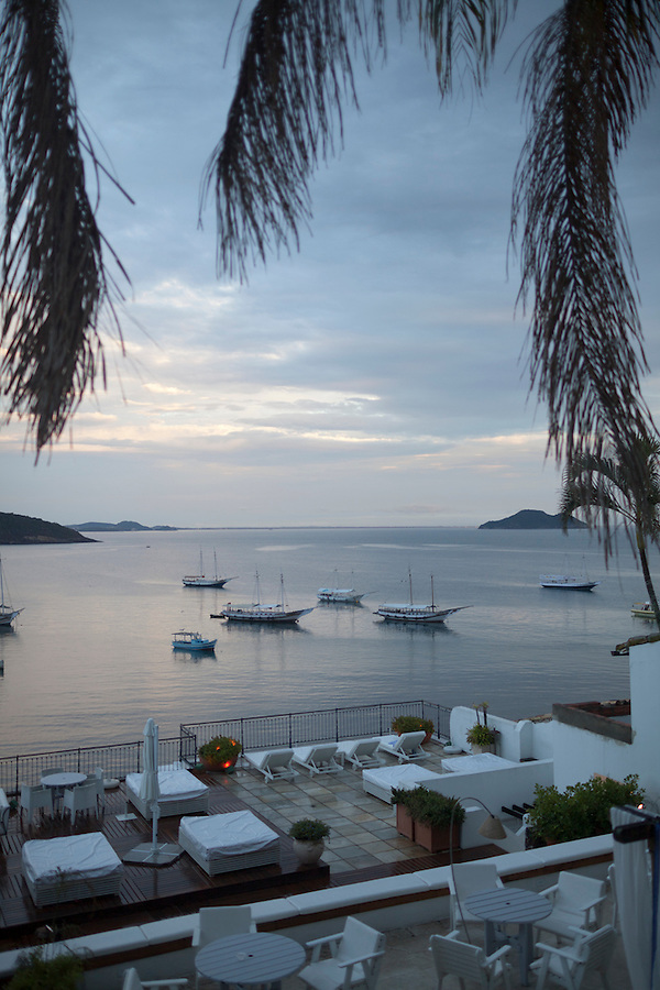 Morning view of Buzios Bay from Casa Brancas Boutique Hotel and Spa