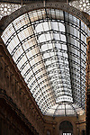Roof of Vittorio Emanuele II Shopping Gallery in Milan, Italy